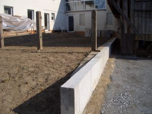 gartenmauer betonieren kosten. Black Bedroom Furniture Sets. Home Design Ideas